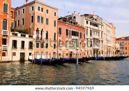 glimpses of the various channels of Venice