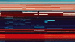Glitch artifact video - Distortion noise - Glitch Art pixeled interference distorted digital data cyber noise - bad tv signal and transmission