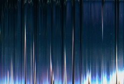 Glitch noise overlay. Dust scratch texture. Distressed LCD screen. Dark neon blue purple black color gradient digital distortion weathered surface with dirt stains.