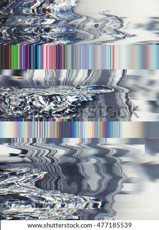 Stock Photo glitched background