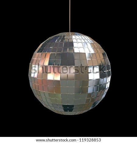 glitter ball isolated on white background