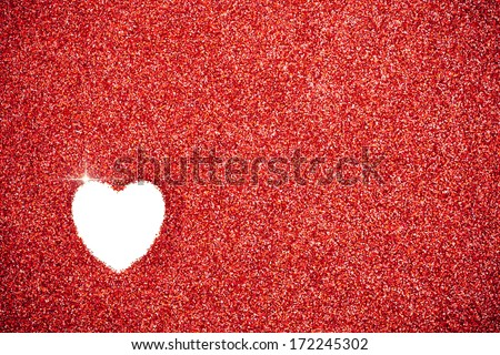 stock photo: red glitter valentine background