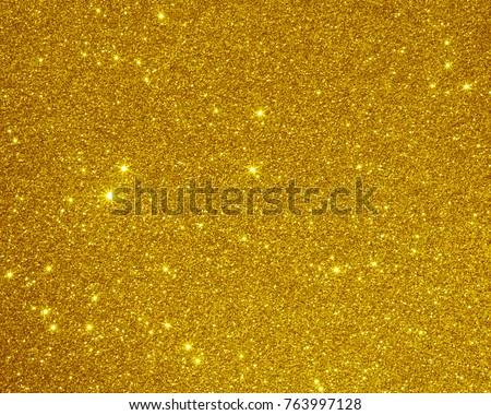 Glitter golden texture background. Christmas background light