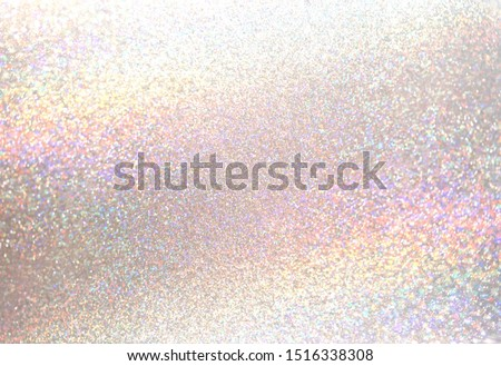 Glitter light pearl tint background. Brilliant dust abstract precious surface. Shimmer hologram pastel crystal texture. Celebration elite illustration.