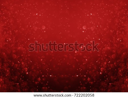 Glitter light red bokeh christmas night blurred black background  #722202058