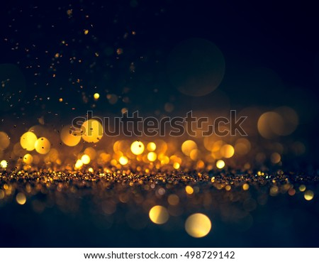 glitter lights grunge background, glitter defocused abstract Twinkly Lights and glitter Stars Christmas light Background.