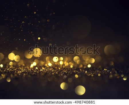 glitter lights grunge background, glitter defocused abstract Twinkly Lights and Stars Christmas Background. #498740881