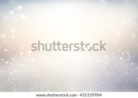 glitter vintage lights background. gold, silver, blue and white. de-focused. - Shutterstock ID 435339904