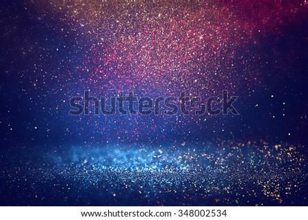 glitter vintage lights background. light silver, gold, red, blue and black. defocused.  - Shutterstock ID 348002534