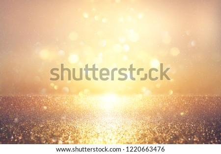 glitter vintage lights background. silver and gold. de-focused #1220663476