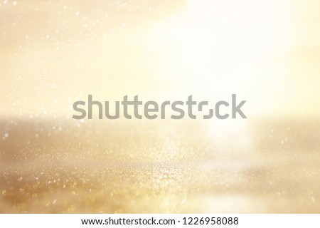 glitter vintage lights background. silver and gold. de-focused #1226958088