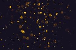 Glittering gold stars of bokeh use for celebrate background