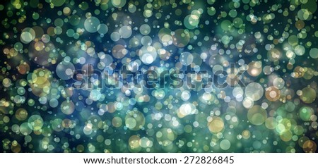 Glittering lights on black and blue background. bokeh lights.
