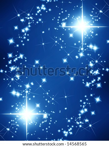 glittering stars on a dark background