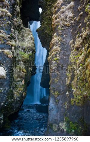 Gljúfrabúi waterfall or