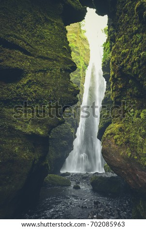 gljufrabui waterfall  iceland ...