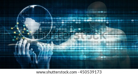 Global Accessibility of Technology as an Abstract Background 3D Illustration Render