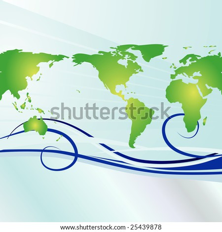 Global background with simple swirls that show currents or jets stream. Ideal for Earth Day.