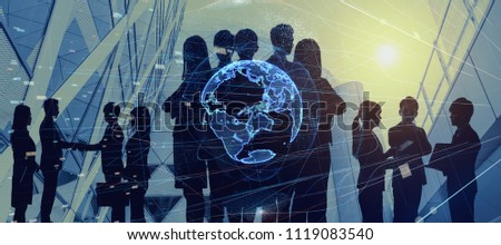 Global business concept. Group of businessperson.