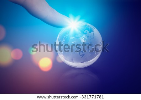 global business concept. rule the world.