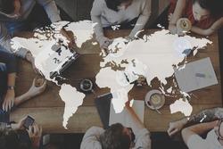 Global Business International Worldwide Corporate Concept