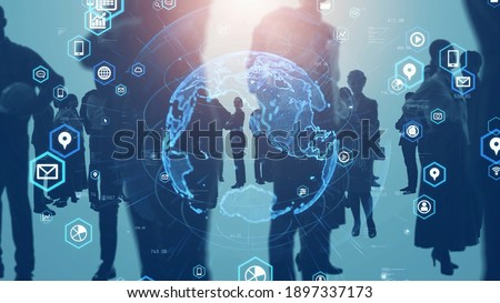Global business network concept. Group of person. Teamwork. Human resources. Foto d'archivio ©