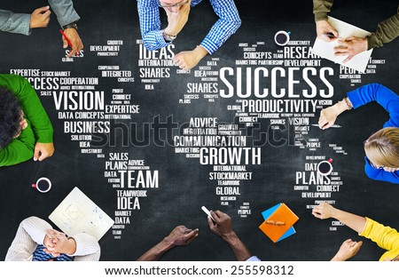 Global Business People Corporate Meeting Success Growth Concept