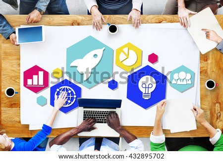 Global Business Strategy Planning Icon Concept #432895702