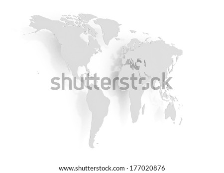 Global Business metal world map- Royalty free images