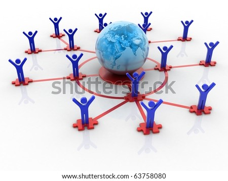 Global bussiness networking concept