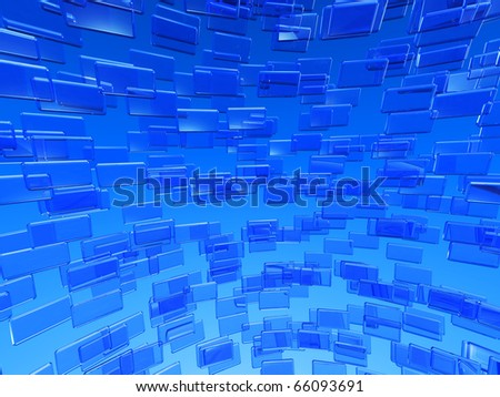 global communication, blue 3d background
