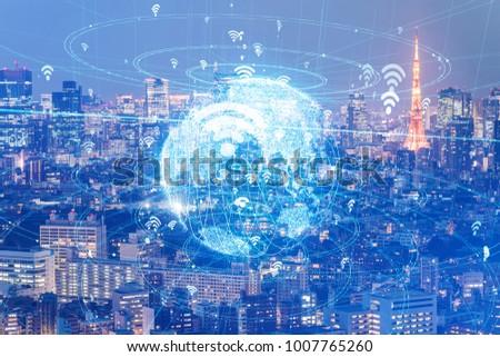 Global communication network concept. #1007765260