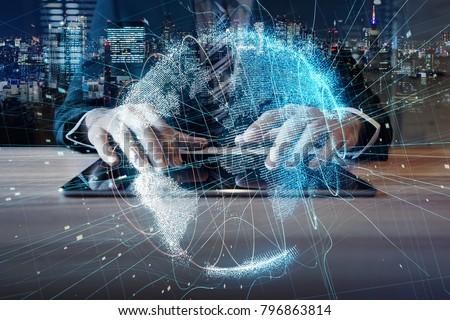 Global communication network concept. #796863814