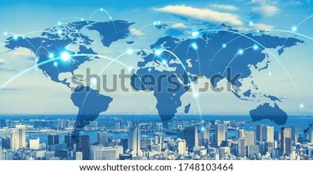 Global communication network concept. Social media. Worldwide business. Stockfoto ©