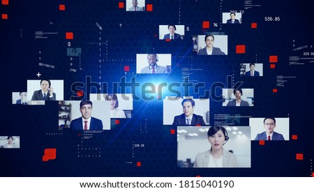 Global communication network concept. Video conference. Telemeeting. Flash news. *Video version available in my portfolio.