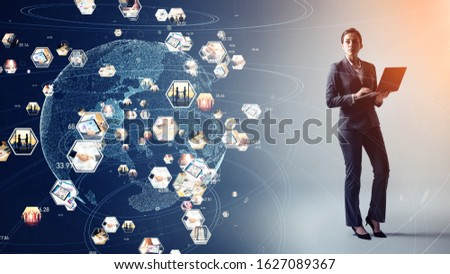 Global communication network concept. Worldwide business.