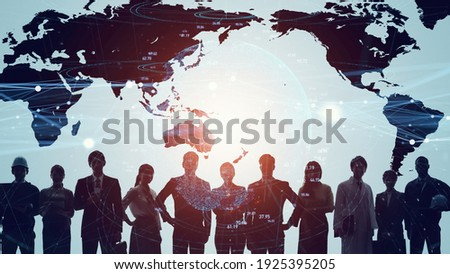 Global communication network concept. Worldwide business. Human resources. Photo stock ©