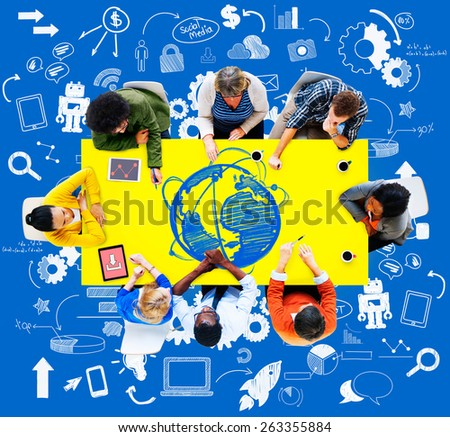 Global Communication Technology Connection Social Network Concept