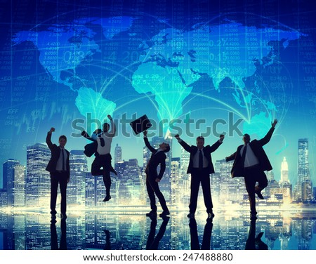Global Community People Communication City Concept