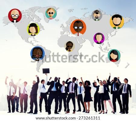 Global Community World People International Nationality Concept