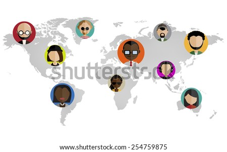 Global Community World People Social Networking Connection Concept