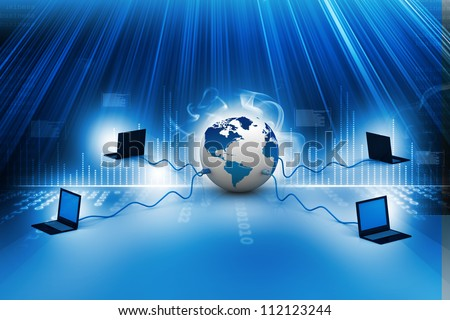 Global computer Network - stock photo