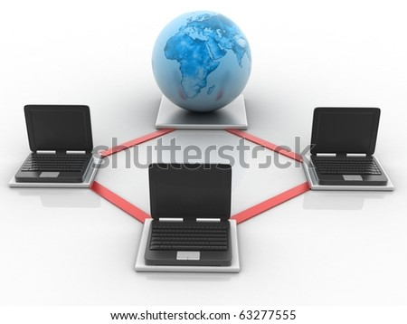 Global Computer Network concept