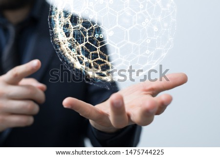 Global digital Telecommunications Background Design #1475744225