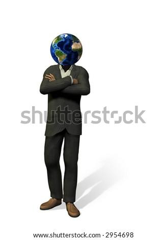 Global Head on white