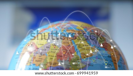Global network concept.                                #699941959