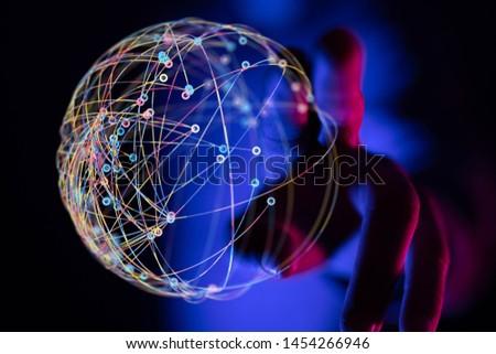 Global network concept. 3D rendering