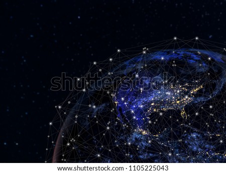 Global network concept / this image furnished by NASA / Communication Concepts #1105225043