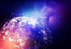 Global network internet Concept. Elements of this image furnished by NASA