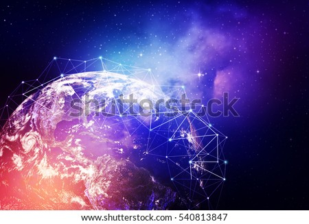 Global network internet Concept. Elements of this image furnished by NASA #540813847